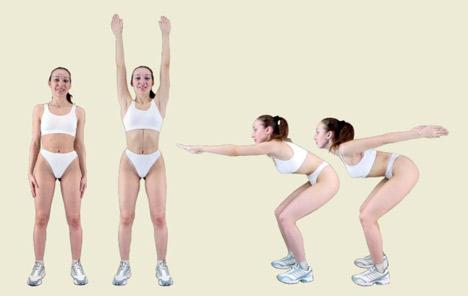 калланетика - упражнение разогрев 1