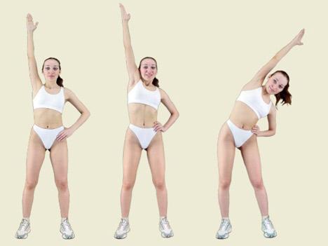 калланетика - упражнение для живота, талии