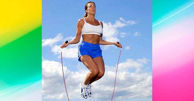 упражнения для ягодиц Прыжки через скакалку