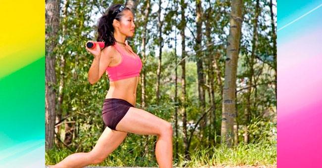упражнения для ягодиц Выпады ногой назад