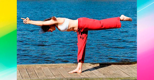 упражнения для ягодиц Наклон и мах назад (ласточка)