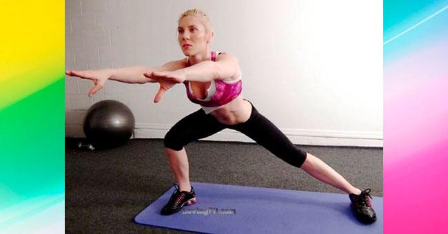 упражнения для ягодиц Выпады ногой в сторону