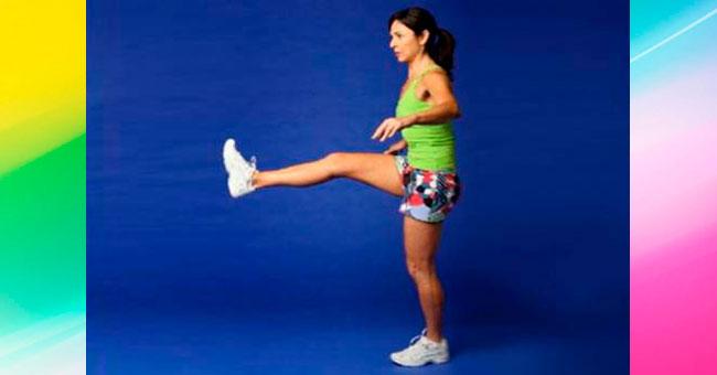 упражнения для ягодиц Поднятие ноги вперед