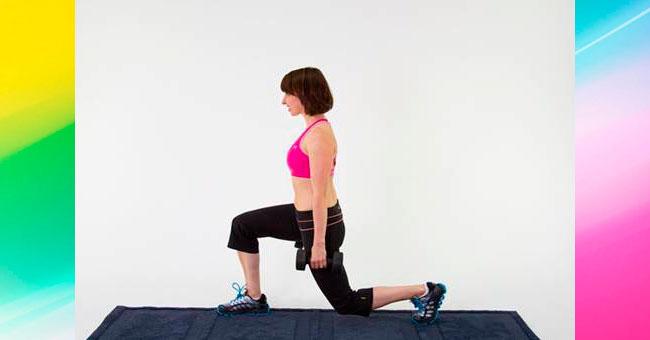 упражнения для ягодиц Выпады ногой вперед