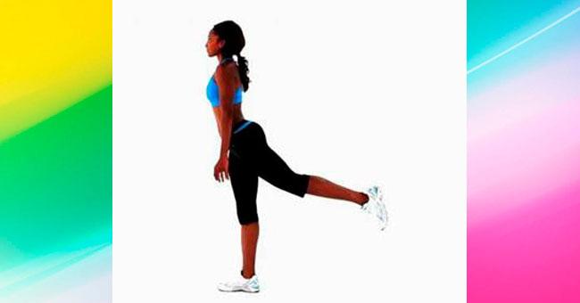 упражнения для ягодиц Поднятие ног назад и вбок (диагональное)